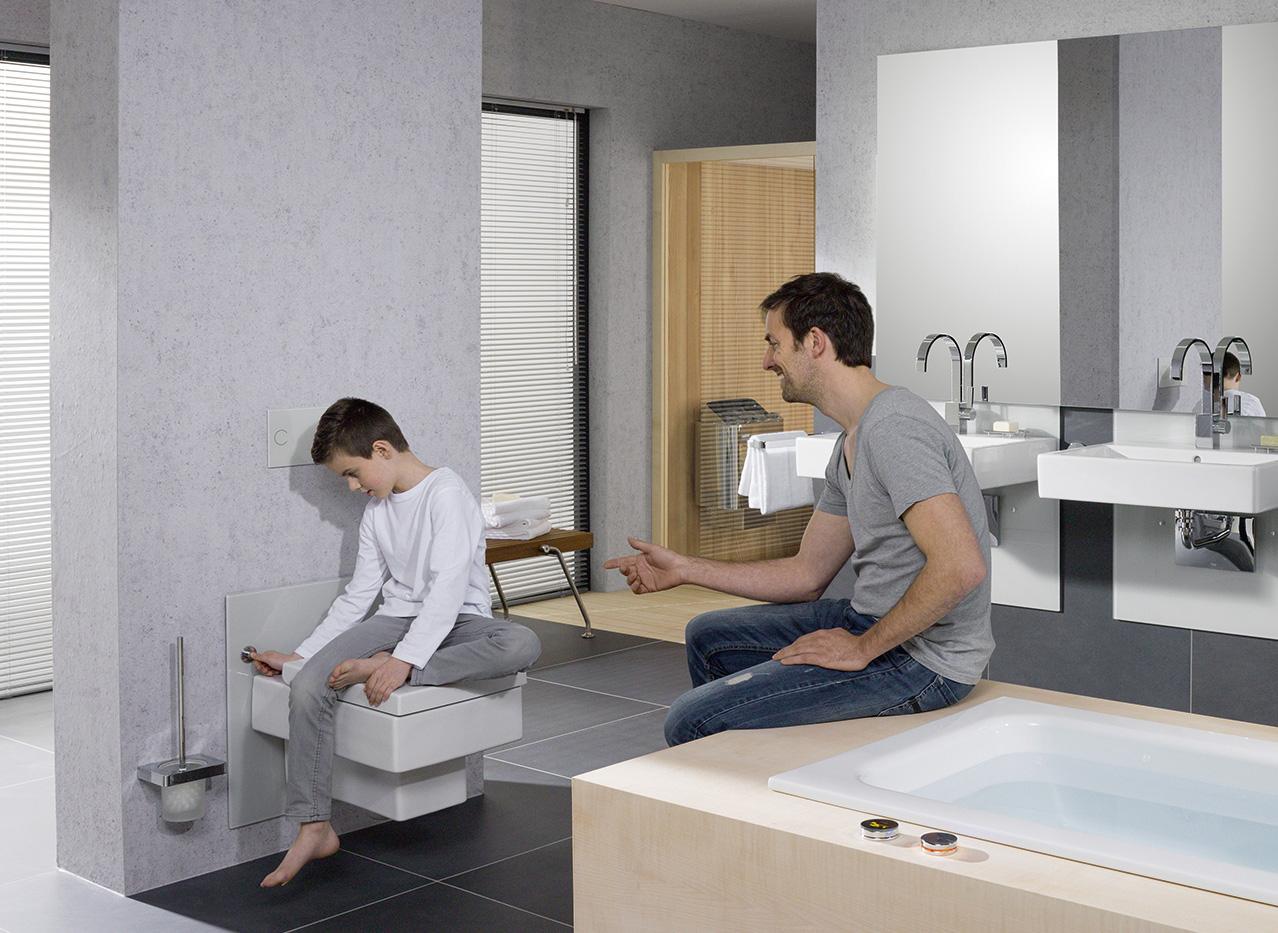 Ideale Zithoogte Toilet.Stel Uw Wastafel Of Toilet Met Een Druk Op De Knop Op De