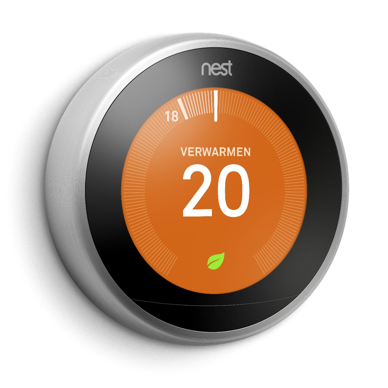 Google Nest Learning thermostat close-up