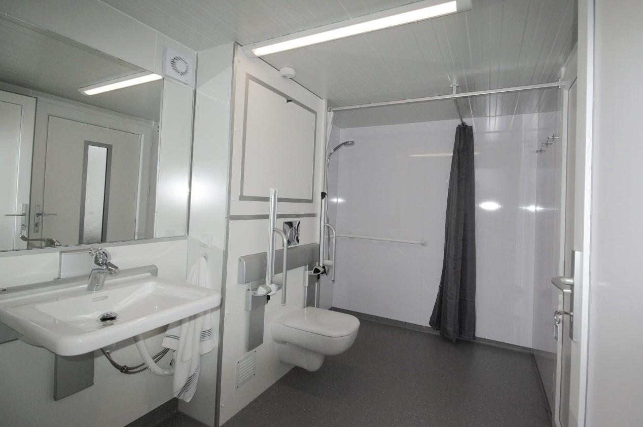 Tijdelijke Mobiele Badkamer : Badkamer op wielen voor tijdelijk of vast