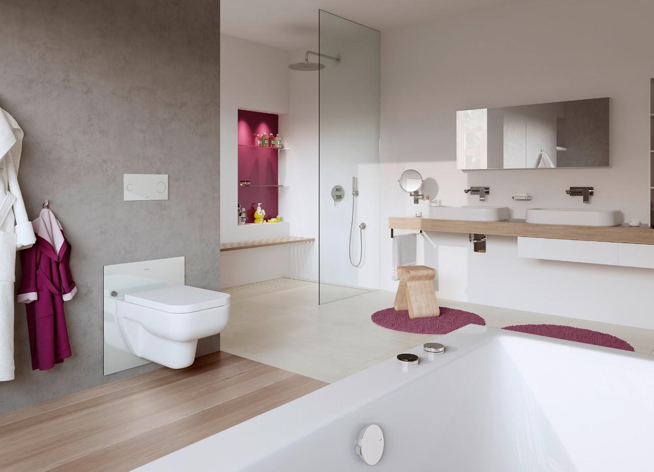 een badkamer die zich aanpast aan uw lengte of leeftijd. Black Bedroom Furniture Sets. Home Design Ideas