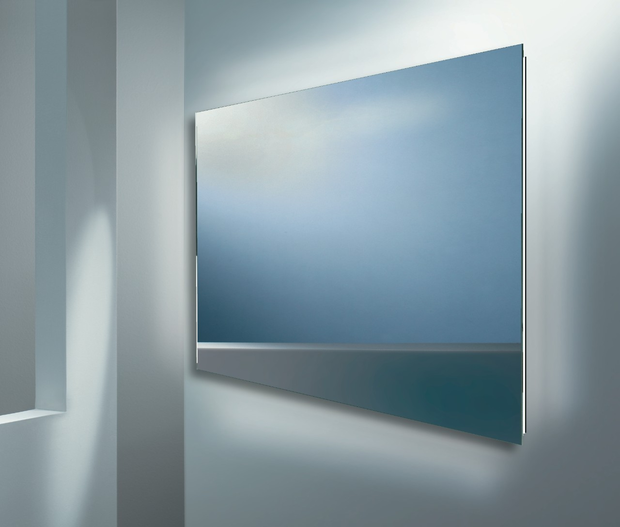 badkamerspiegel met diffuse led verlichting