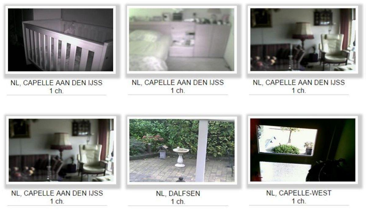 Gluren bij de buren via een onbeveiligde webcam