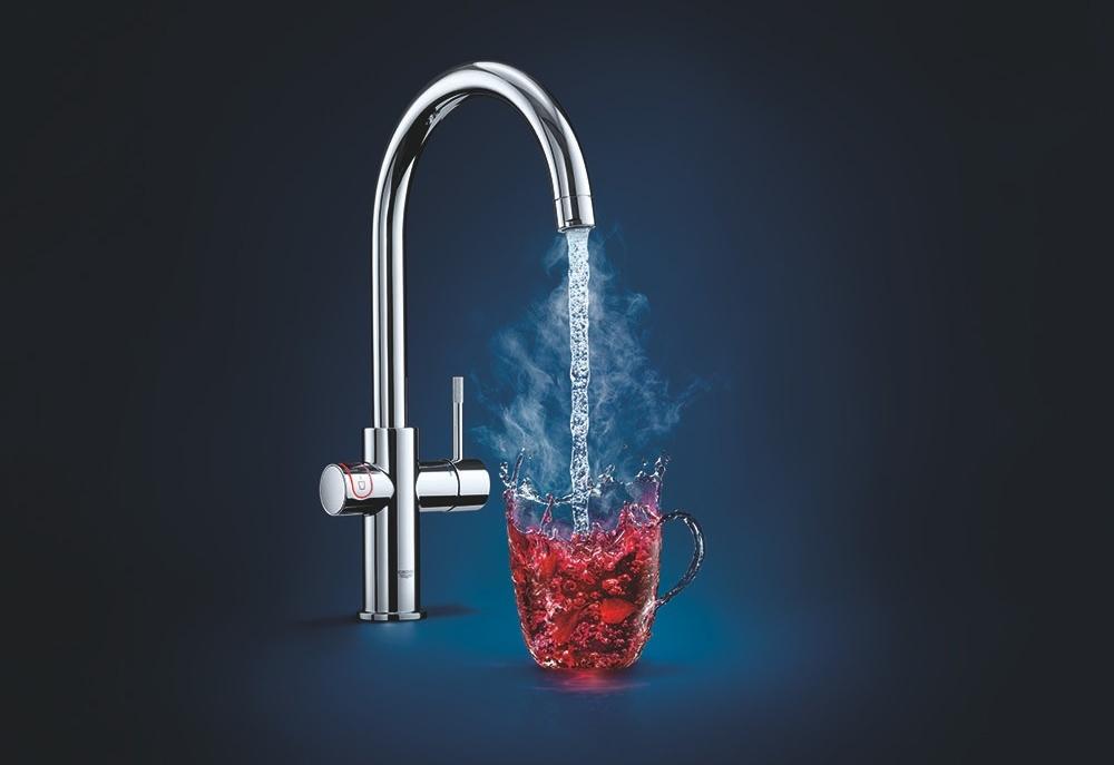 Direct kokend water met de grohe red