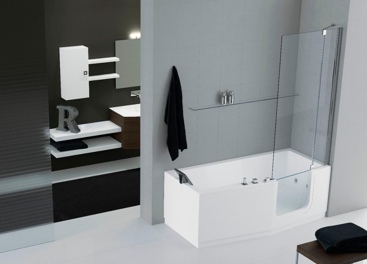 Bad met instapdouche te huur studio westende bad met of zonder