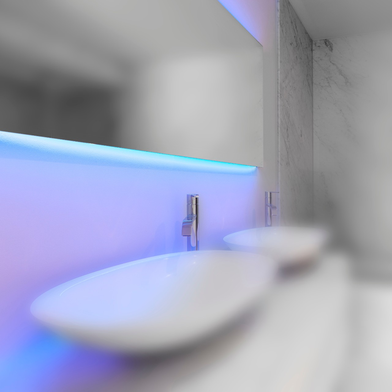 Lampen glas idee - Een badkamer deco ...