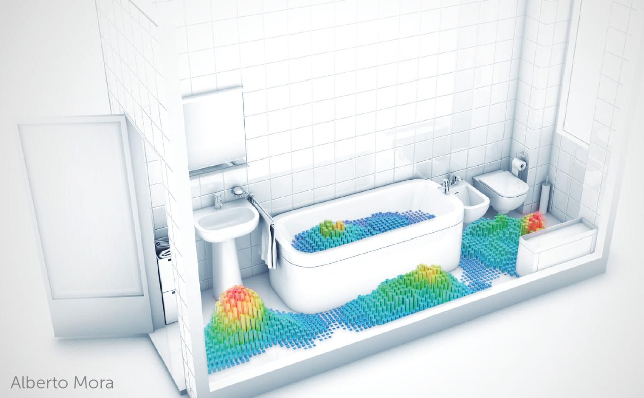 Zo gebruiken europese ouderen hun badkamer - Italiaanse douche mosai dat ...