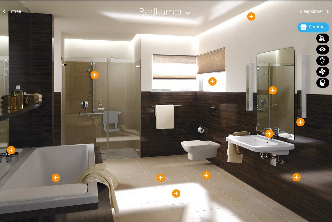 badkamer in het demohuis