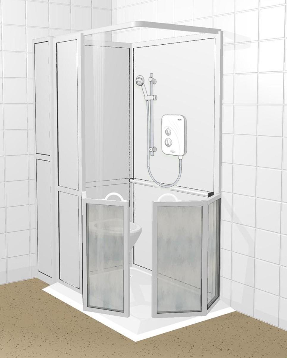 Douche- en toiletcabine Apollo Aqua