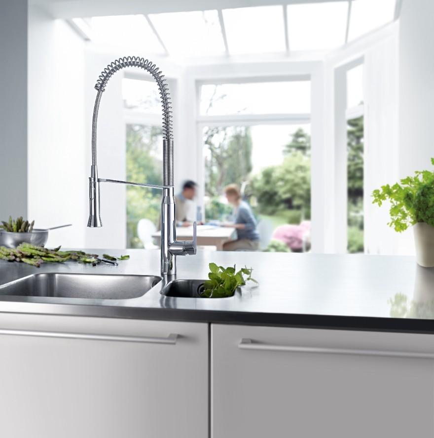 Hoge keukenkraan grohe k7 - Vormgeving van de badkamer kraan ...