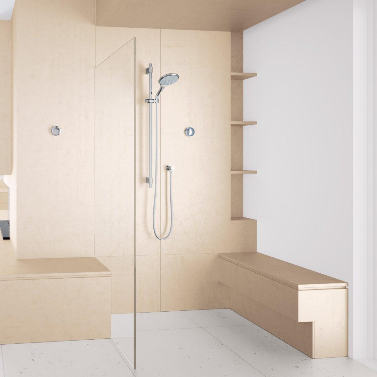 rainshower grohe f digital. Black Bedroom Furniture Sets. Home Design Ideas