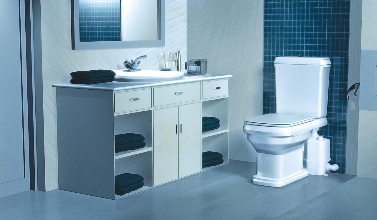 Flexibele plaatsing toilet, badkamer of keuken met de Grundfos SOLOLIFT2