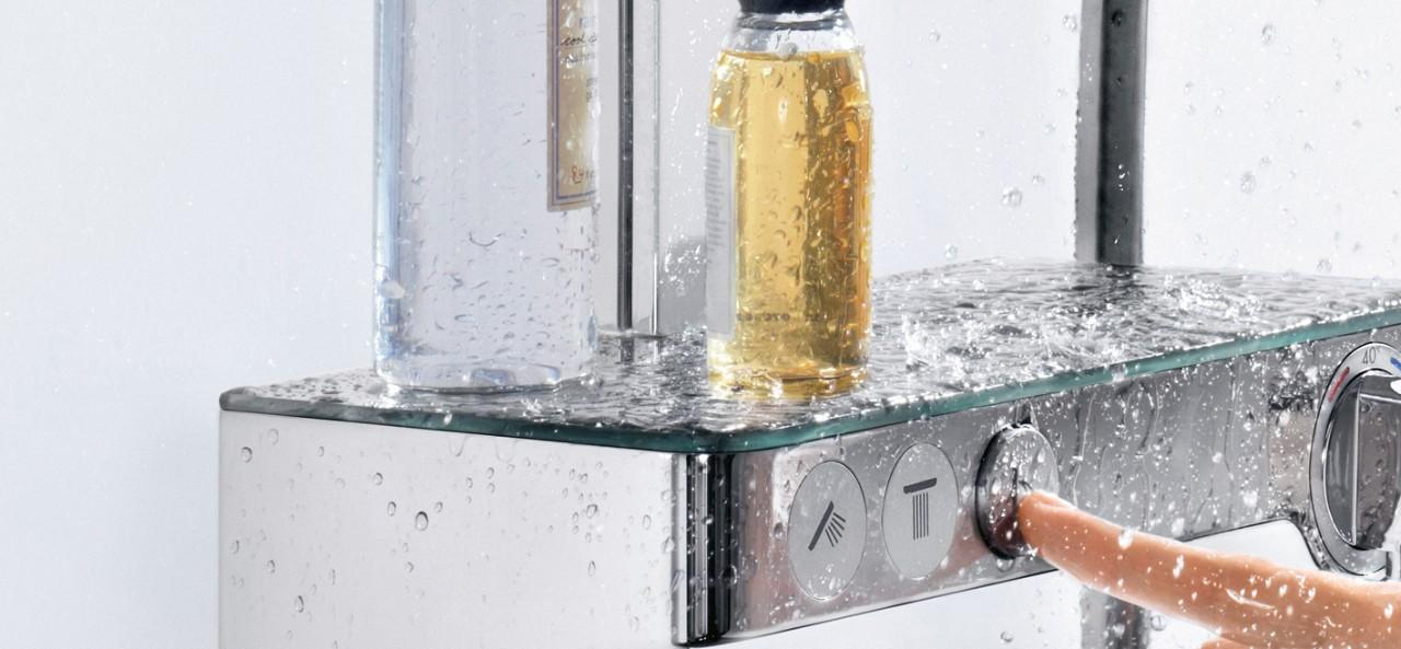 hansgrohe ecostat select en showertablet select thermostaat. Black Bedroom Furniture Sets. Home Design Ideas