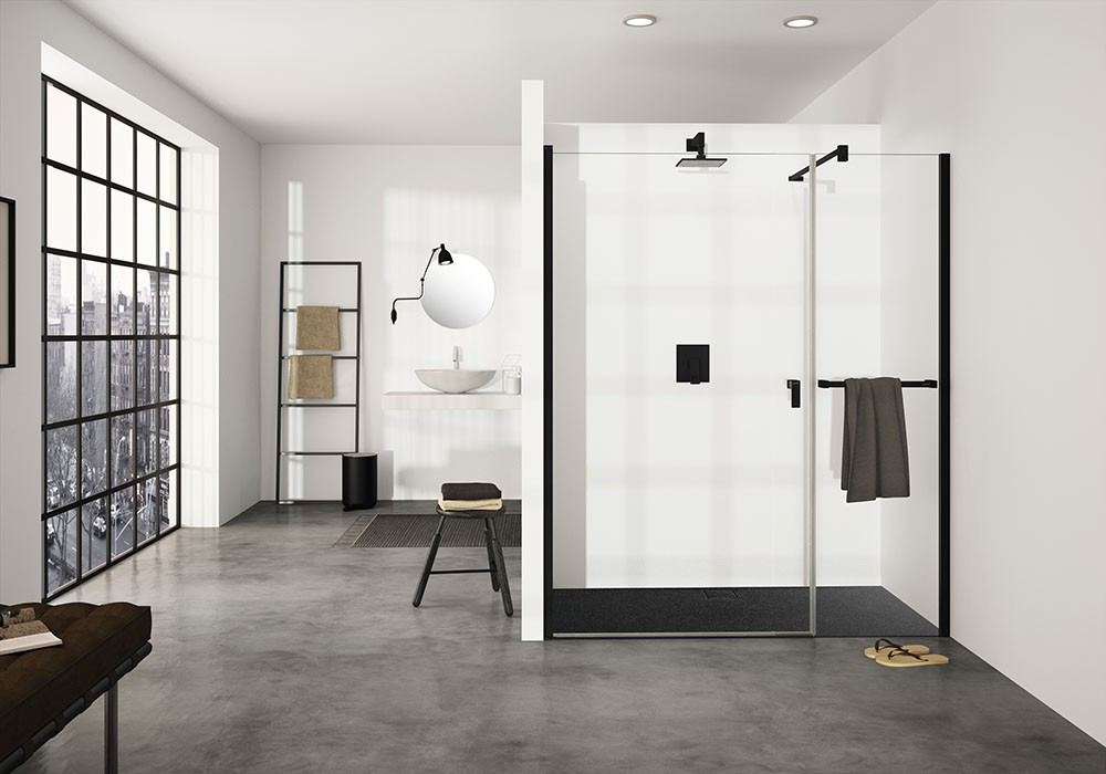 Accessoires Voor Badkamer : Douchewanden en badkamer accessoires hÜppe black edition