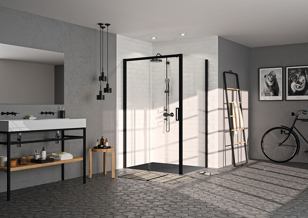 Luxe Badkamer Accessoires : Douchewanden en badkamer accessoires hÜppe black edition