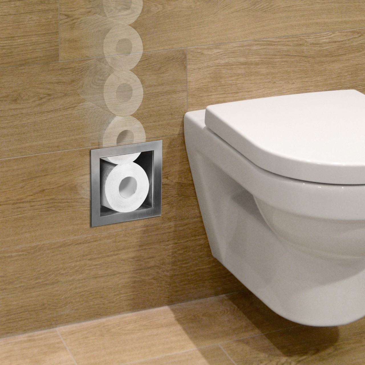 Looox toiletrolhouder en opbergsysteem