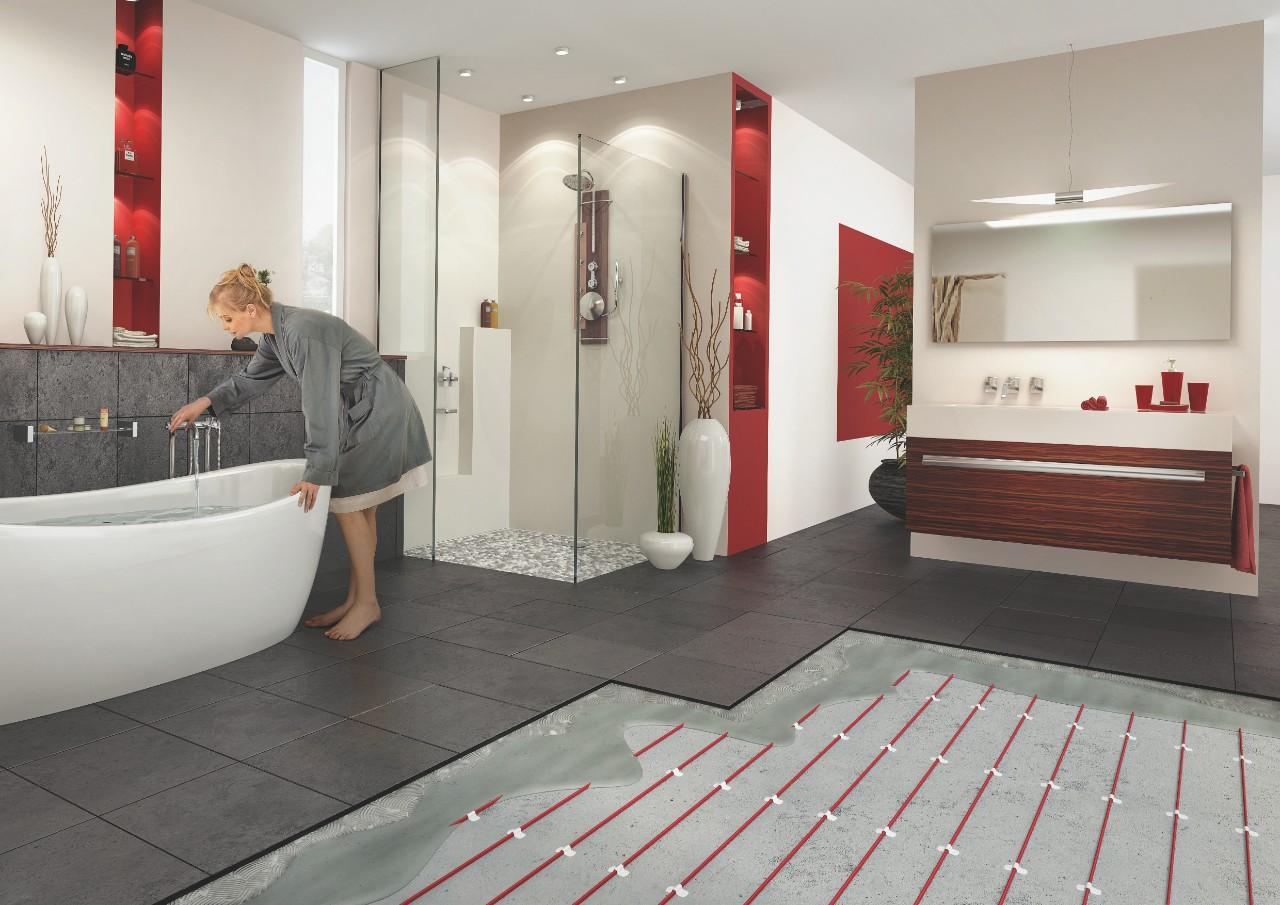 Vloerverwarming Badkamer Elektrisch : Elektrische vloerverwarming nvent raychem t2red en reflecta