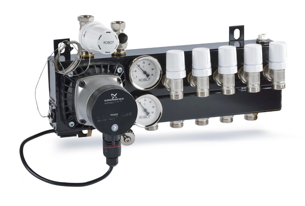 Hout Gebruiken Badkamer ~ Standaard verdeelunit Robot Vloerverwarming