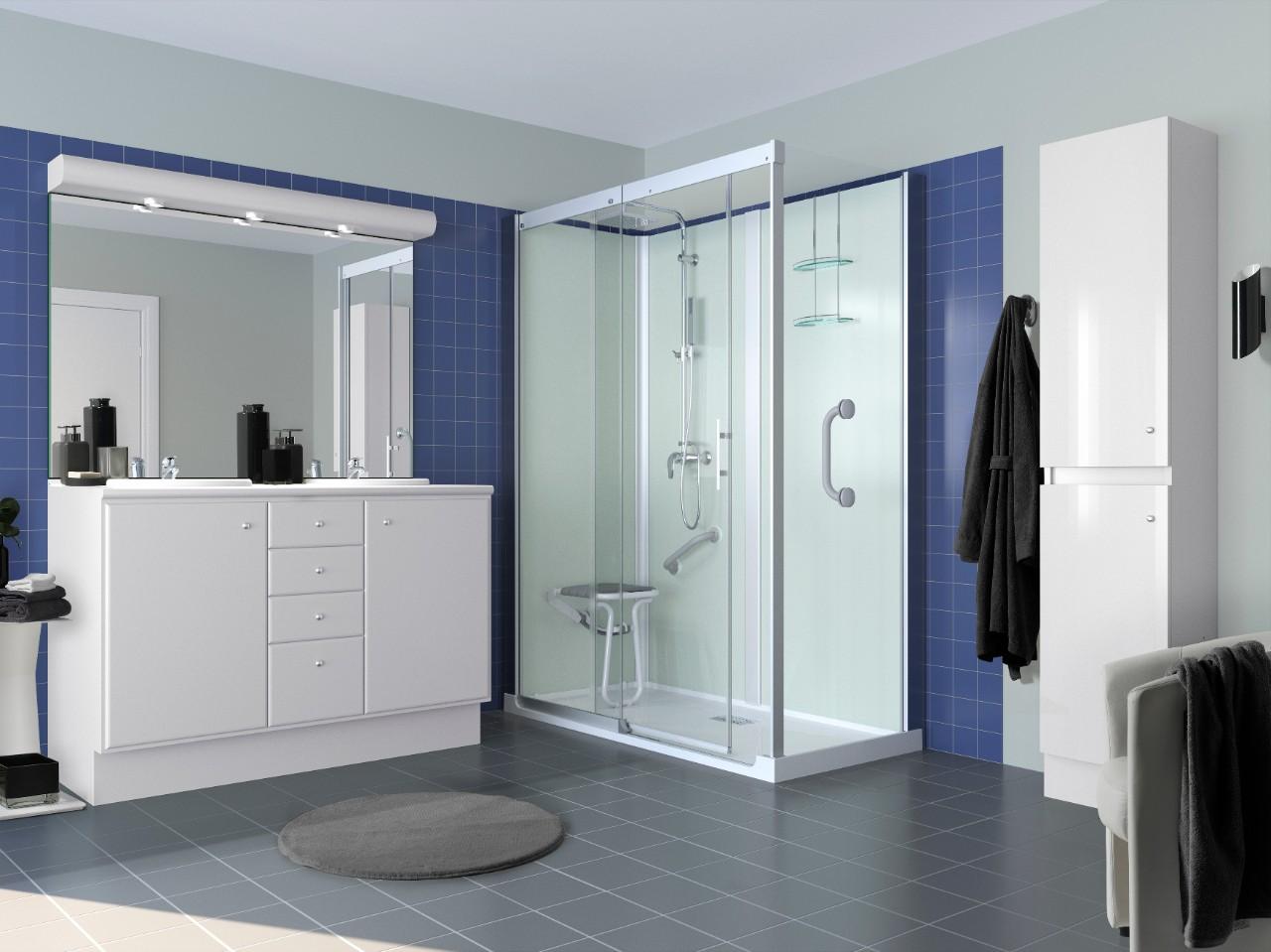 ... douche… in één dag! Zonder ingrijpende verbouwing. Het vervangen