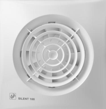 De stilste badkamer/toilet ventilator Soler & Palau Silent-100