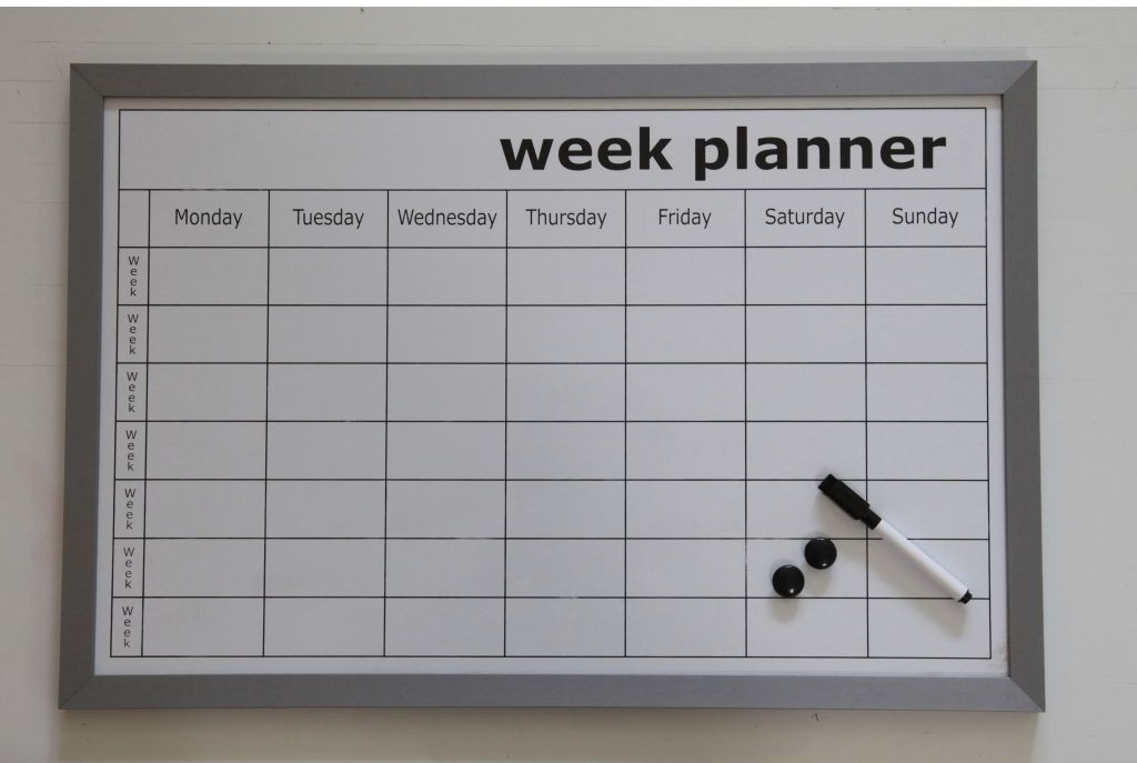 Whiteboard Weekplanner Woonexpress