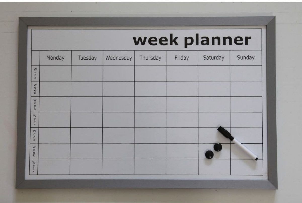 Whiteboard weekplanner woonexpress for For planner