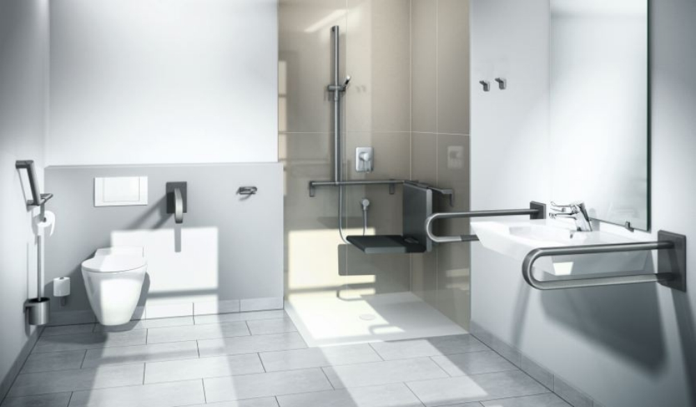 Aangepaste badkamer ouderen oogt modern