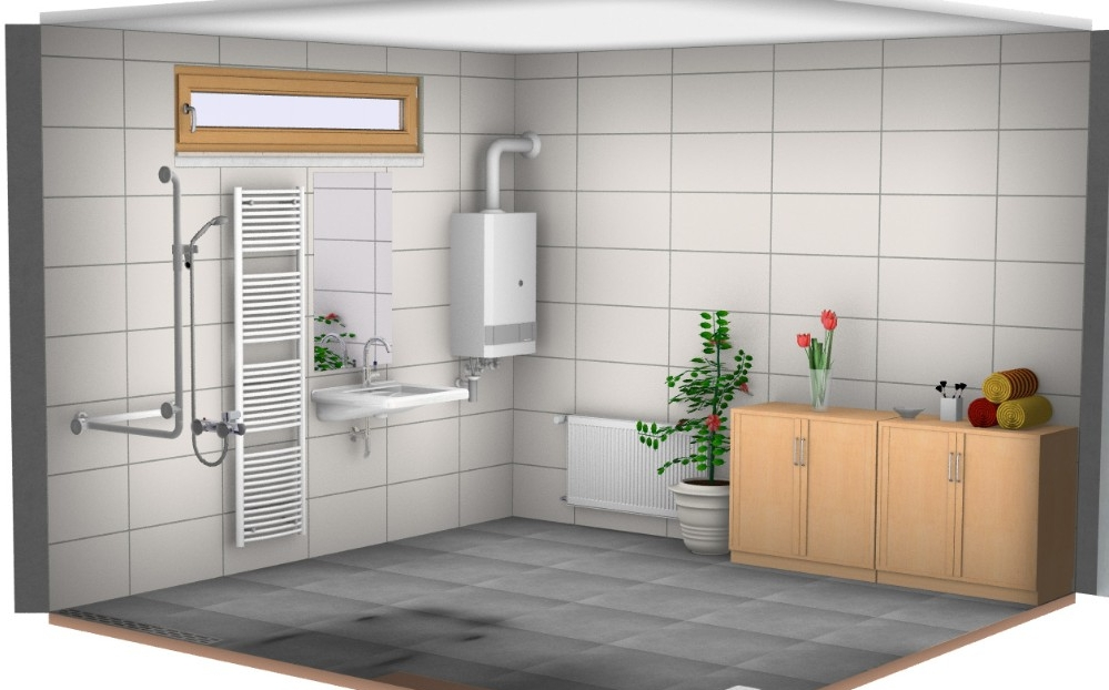 Ventilatie Badkamer Muur : Veilige badkamer voor ouderen